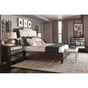 Bernhardt Sutton House Queen Upholstered Sleigh Bed with Button Tufting
