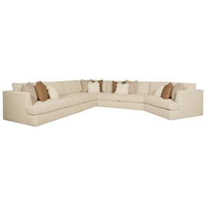 Bernhardt Sydney Seven Seat Sectional Sofa