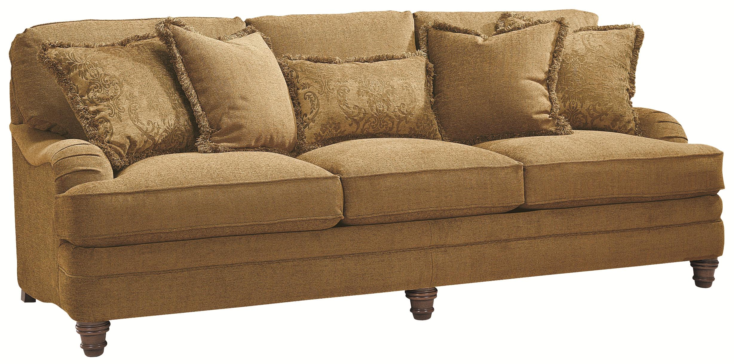 Bernhardt tarleton traditional styled stationary sofa for Bernhardt furniture