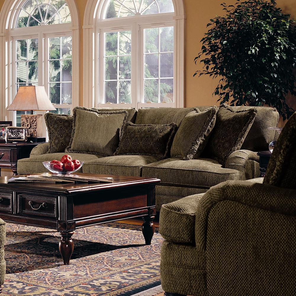 Bernhardt Tarleton Traditional Styled Stationary Sofa
