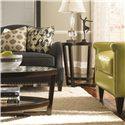 Bernhardt Upholstered Accents Transitional Scarsdale Accent Chair with Thin Track Arms and Nail Head Trim - Shown Right Center with Coordinating Accent Items