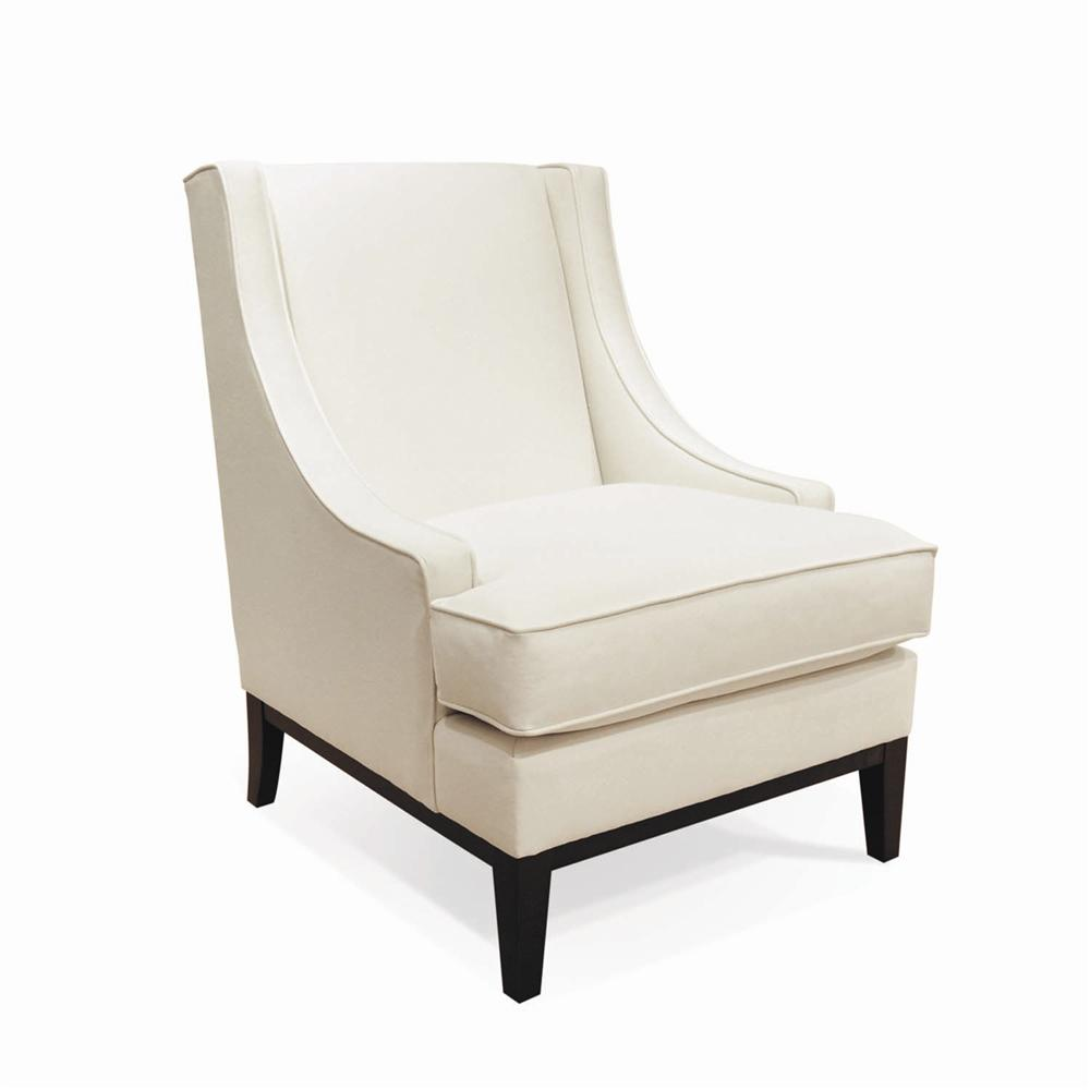 Bernhardt Lancaster Contemporary Chair With Exposed Wood