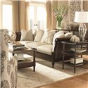 Bernhardt Upholstered Accents Transitional Grantham Wing Chair in Modern Living Room Furniture Style - Shown Left Corner with Coordinating Accent Couch and Tables