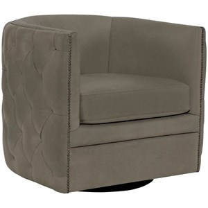 Bernhardt Upholstered Accents Palazzo Swivel Chair