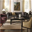 Bernhardt Upholstered Accents Pearl Left Arm Corner Chair in Traditional Style - Shown in Room Setting with Matching Furniture Items