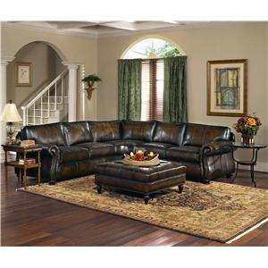 Leather Sectional Group