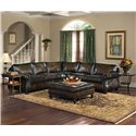 Bernhardt Van Gogh Leather Sectional Group - Item Number: 1992L+1L
