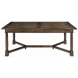 Bernhardt Vintage Patina Trestle Table