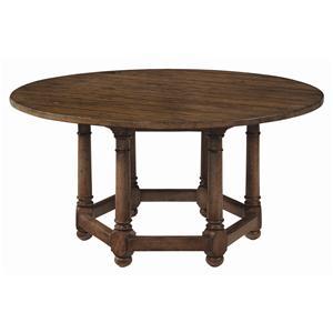 "Bernhardt Vintage Patina 62"" Round Dining Room Table"
