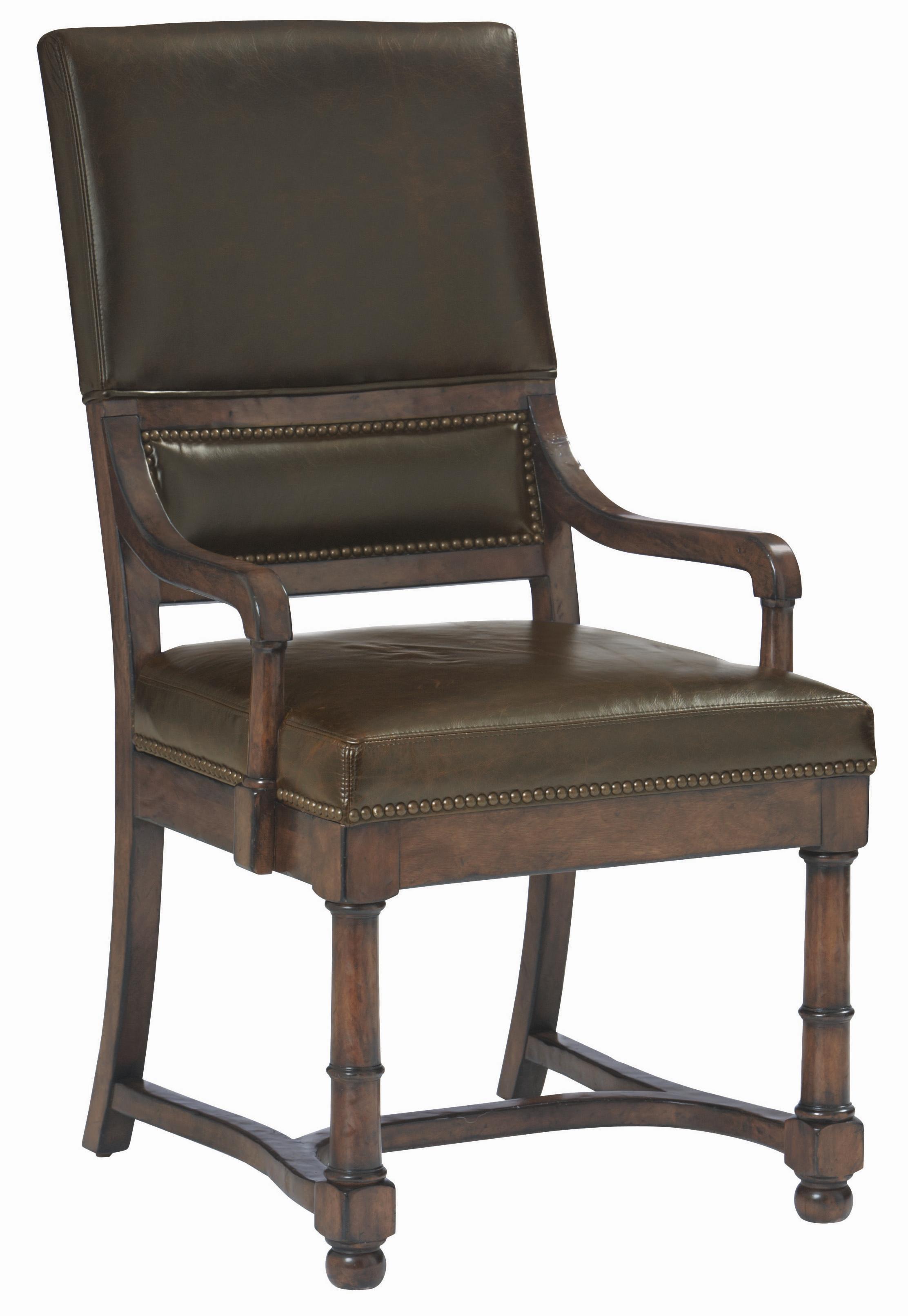 Bernhardt Villa Rica Villa Rica Leather Arm Chair - Item Number: 322-542