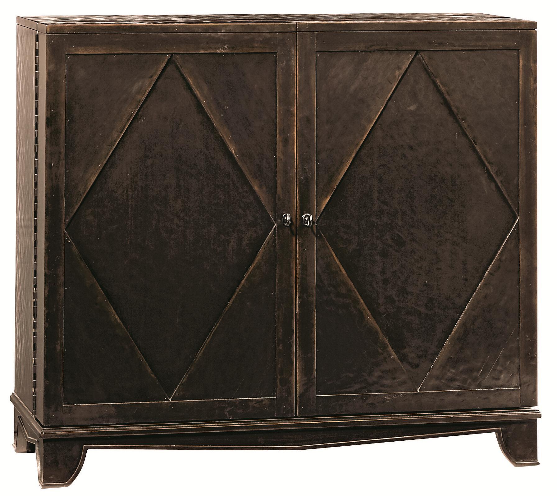 Bernhardt Vintage Patina Bar Cabinet with Wine Bottle Storage - Jacksonville Furniture Mart ...