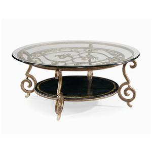 Bernhardt Zambrano Round Cocktail Table Base & Glass Top