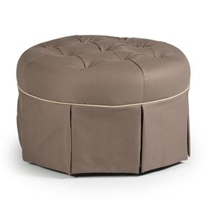 Best Chairs Storytime Series Storytime Swivel Chairs and Ottomans Round Skirted Ottoman with Button Tufting