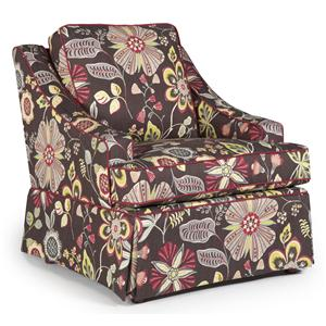 Best Chairs Storytime Series Storytime Swivel Chairs and Ottomans Ayla Swivel Chair with Swooped Arms