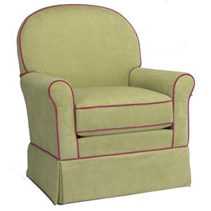 Best Chairs Storytime Series Storytime Swivel Chairs and Ottomans Peyton Swivel Chair with Curved Back