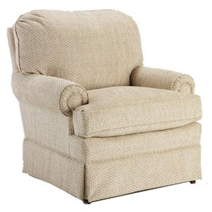 Best Chairs Storytime Series Storytime Swivel Chairs and Ottomans Braxton Swivel Chair with Rolled Arms