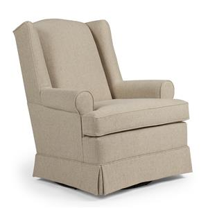 Best Chairs Storytime Series Storytime Swivel Chairs and Ottomans Roni Skirted Swivel Glider Chair