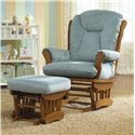 Best Chairs Storytime Series Storytime Glider Rockers and Ottomans Manuel Glider Rocker with Wide Seat - Shown with Glide Ottoman