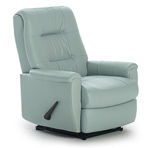 Best Chairs Storytime Series Storytime Recliners Felicia Swivel Glider Recliner with Button-Tufted Back