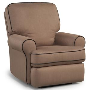 Best Chairs Storytime Series Storytime Recliners Tryp Swivel Glider Recliner with Rolled Arms