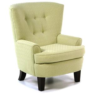 Best Home Furnishings Chairs - Club Club Chair with Button-Tufted Back