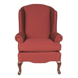 Morris Home Furnishings Chairs - Wing Back Esther Queen Anne Wing Chair