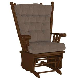 Best Home Furnishings Bordeaux Collection Mink Glider Rocker