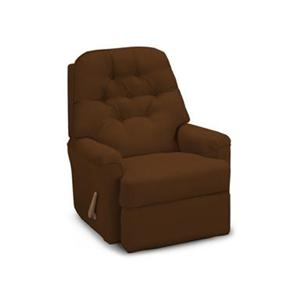 Best Home Furnishings Recliners - Petite Walnut Cara Rocker Recliner