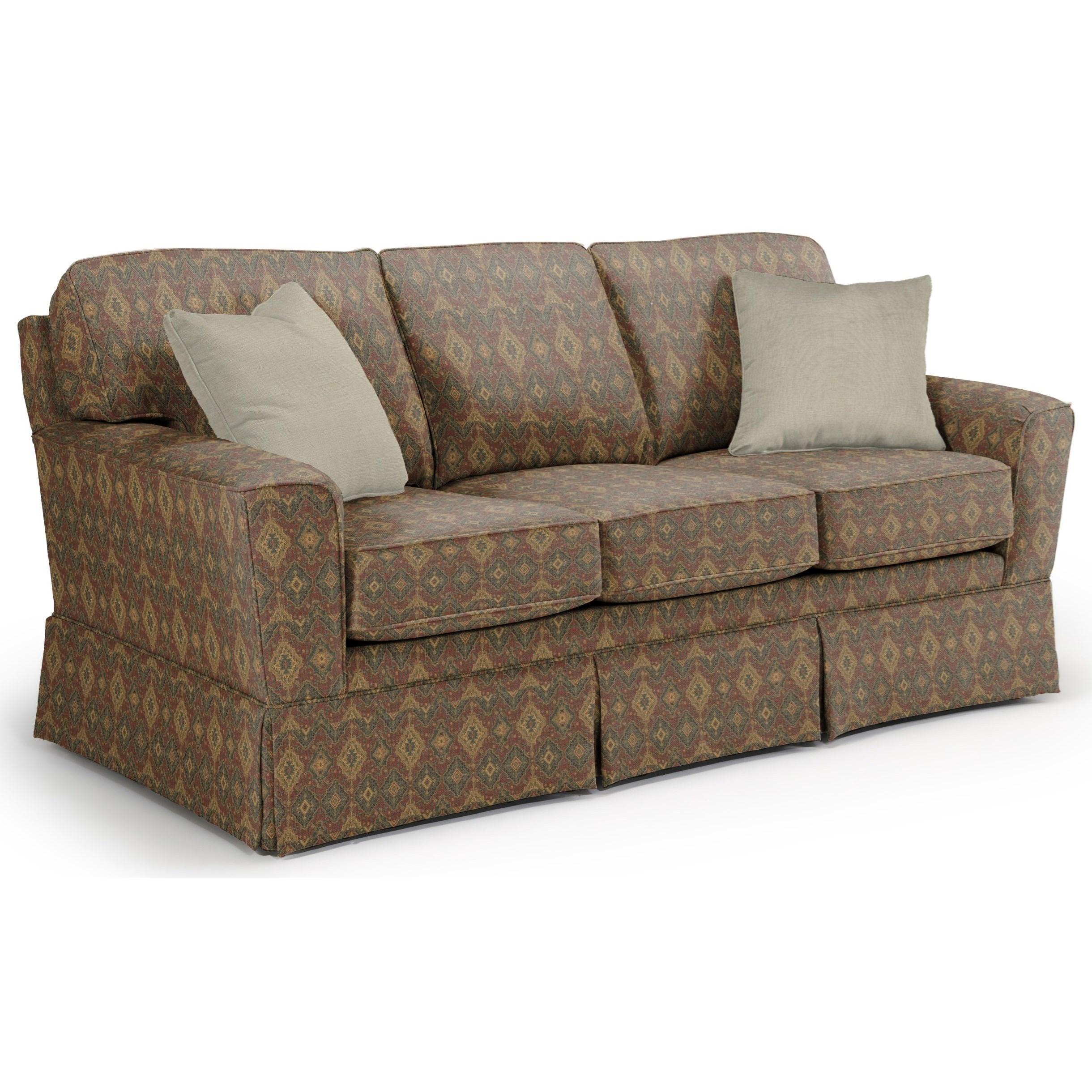 Best Home Furnishings Annabel  <b>Custom</b> 3 Over 3 Sofa - Item Number: -2110035674-20061