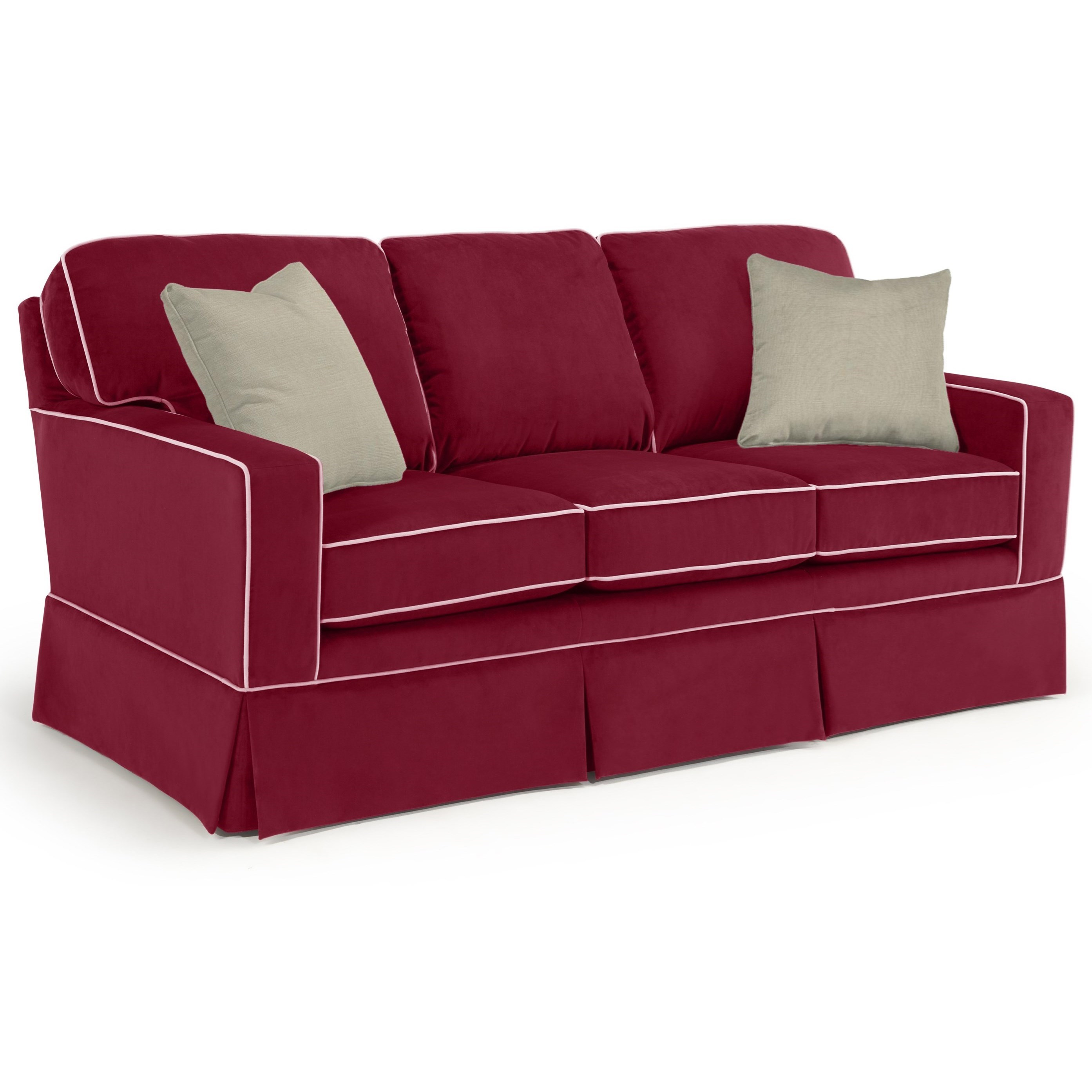 Best Home Furnishings Annabel  <b>Custom</b> 3 Over 3 Sofa - Item Number: 152253067-21278