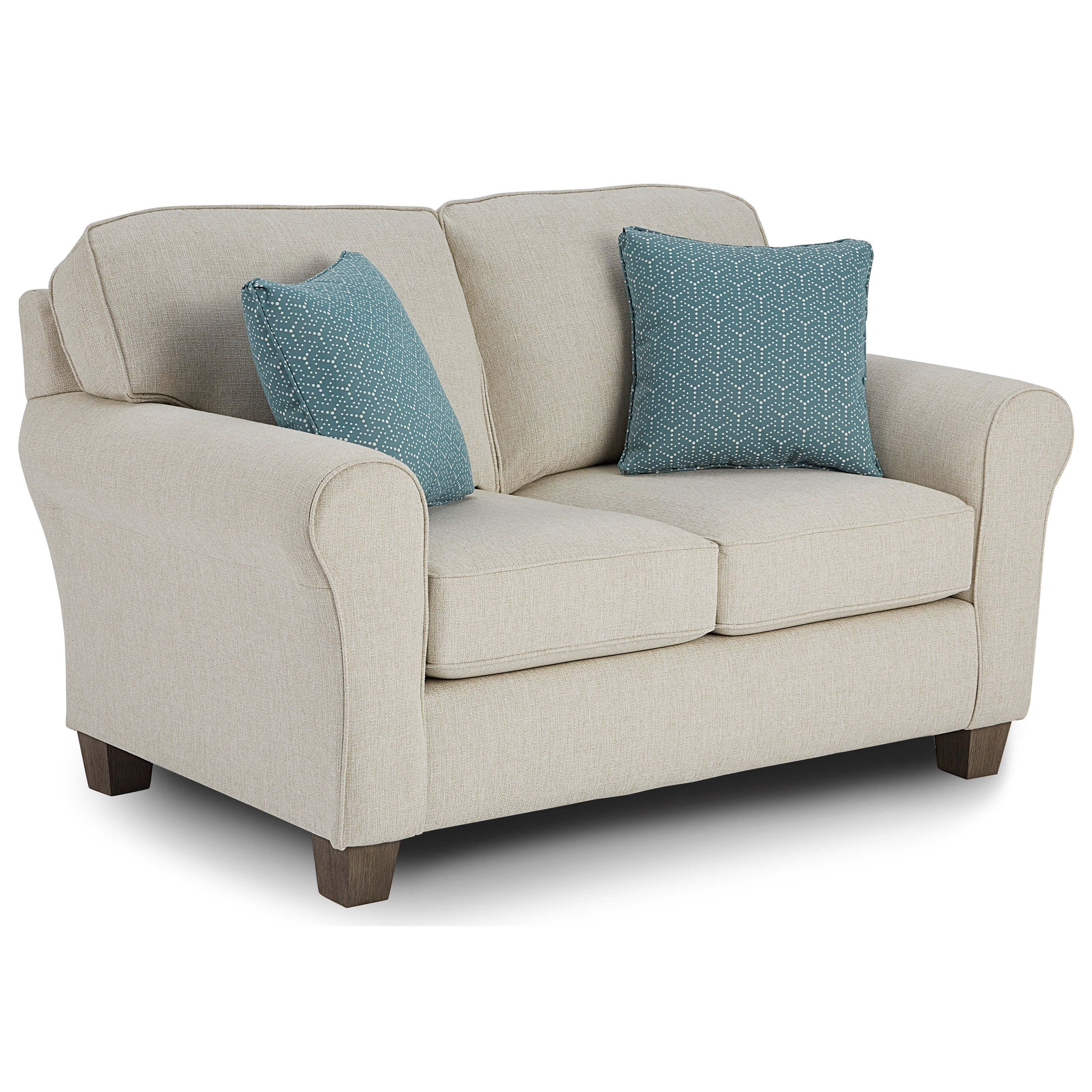 Annabel  Custom Loveseat by Best Home Furnishings at Saugerties Furniture Mart