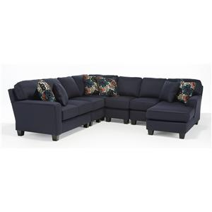Vendor 411 Annabel  5 Pc Sectional Sofa