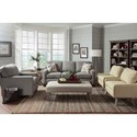 Best Home Furnishings Annabel  <b>Customizable</b> Contemporary Sofa with Track Arms and Tapered Legs