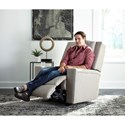Best Home Furnishings Asher Swivel Glider Recliner with Built-In Cupholders
