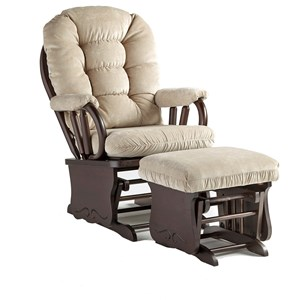 Best Home Furnishings Bedazzle Glide Rocker w/ Lock and Ottoman