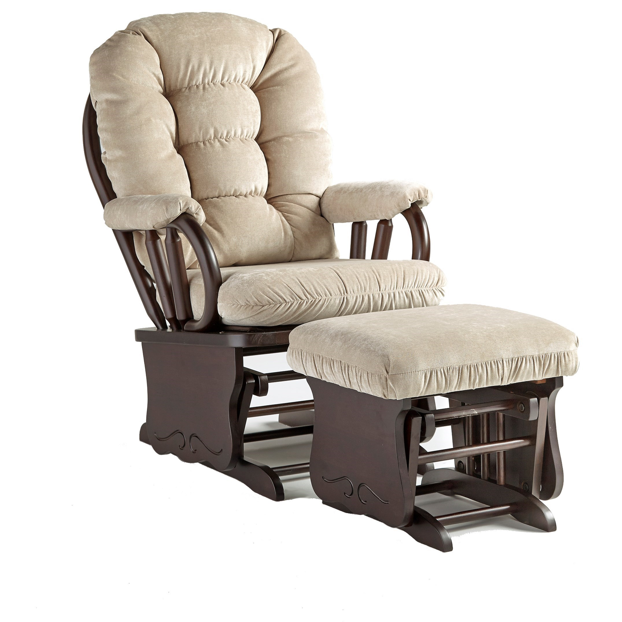 Best Home Furnishings Bedazzle Gliding Rocker And Ottoman Steger S Furniture Chair Ottoman Sets