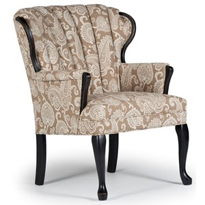 Best Home Furnishings Accent Chairs Prudence Exposed Wood Accent Chair
