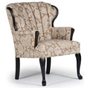 Best Home Furnishings Accent Chairs Prudence Exposed Wood Accent Chair - Item Number: 0820