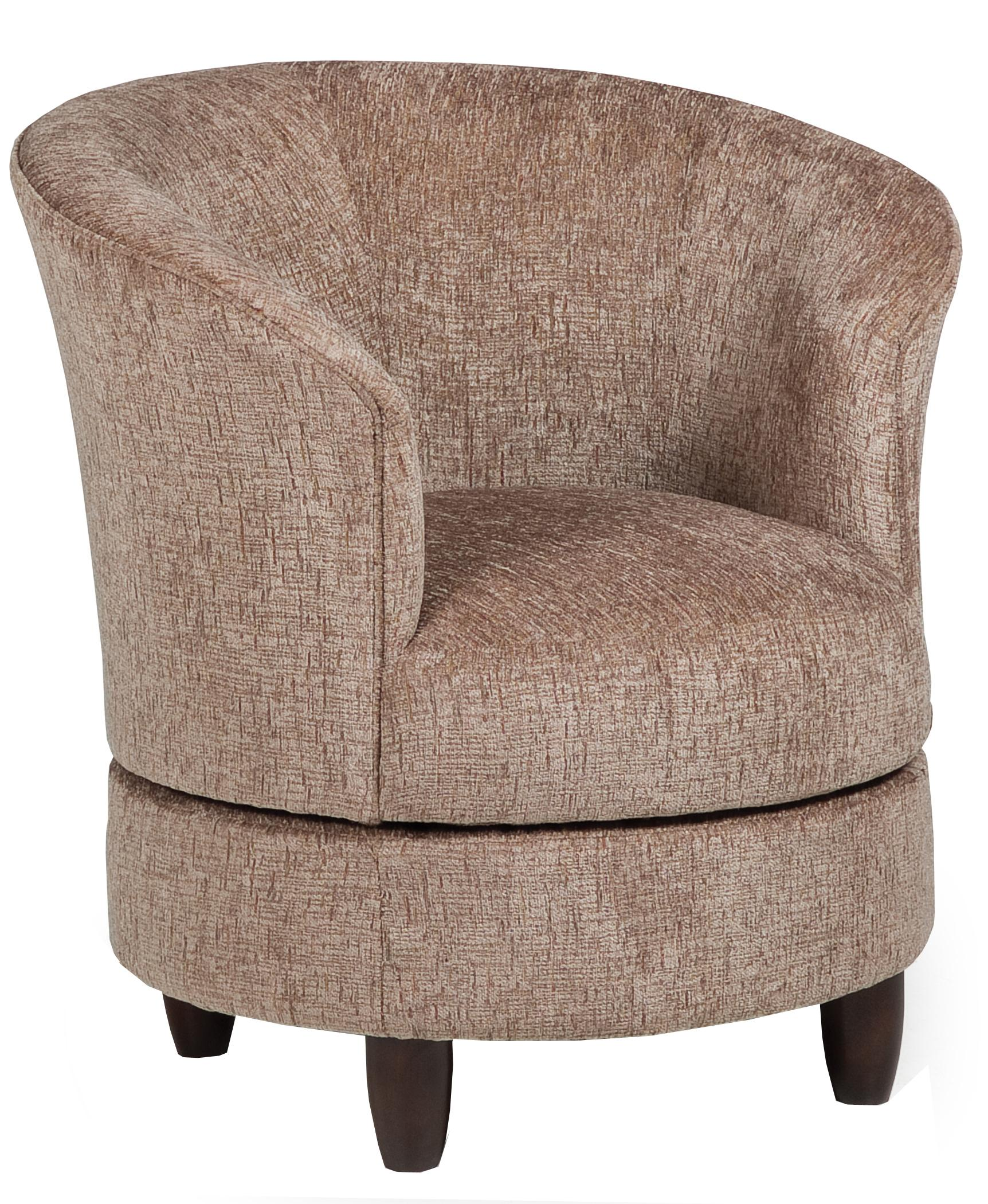 Accent Swivel Barrel Chair By Best Home