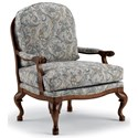 Best Home Furnishings Accent Chairs Cogan Exposed Wood Accent Chair - Item Number: 3410-26061