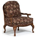 Best Home Furnishings Chairs - Accent Cogan Exposed Wood Accent Chair - Item Number: 3410-34626