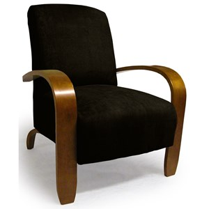 Morris Home Furnishings Chairs - Accent Maravu Exposed Wood Accent Chair