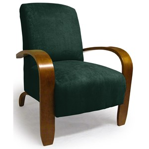 Morris Home Chairs - Accent Maravu Exposed Wood Accent Chair