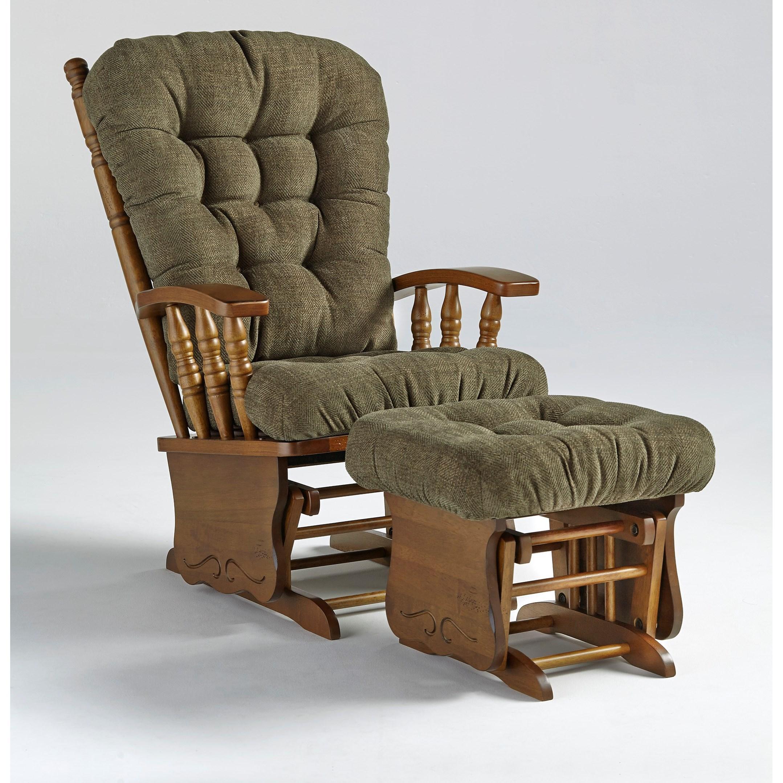Glider Rockers Henley Glider Rocker & Ottoman by Bravo Furniture at Bennett's Furniture and Mattresses