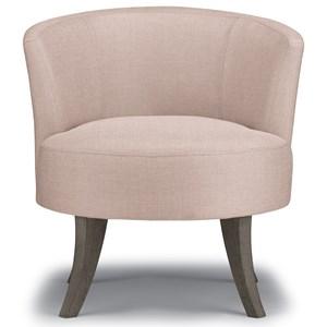 Swivel Barrel Chair