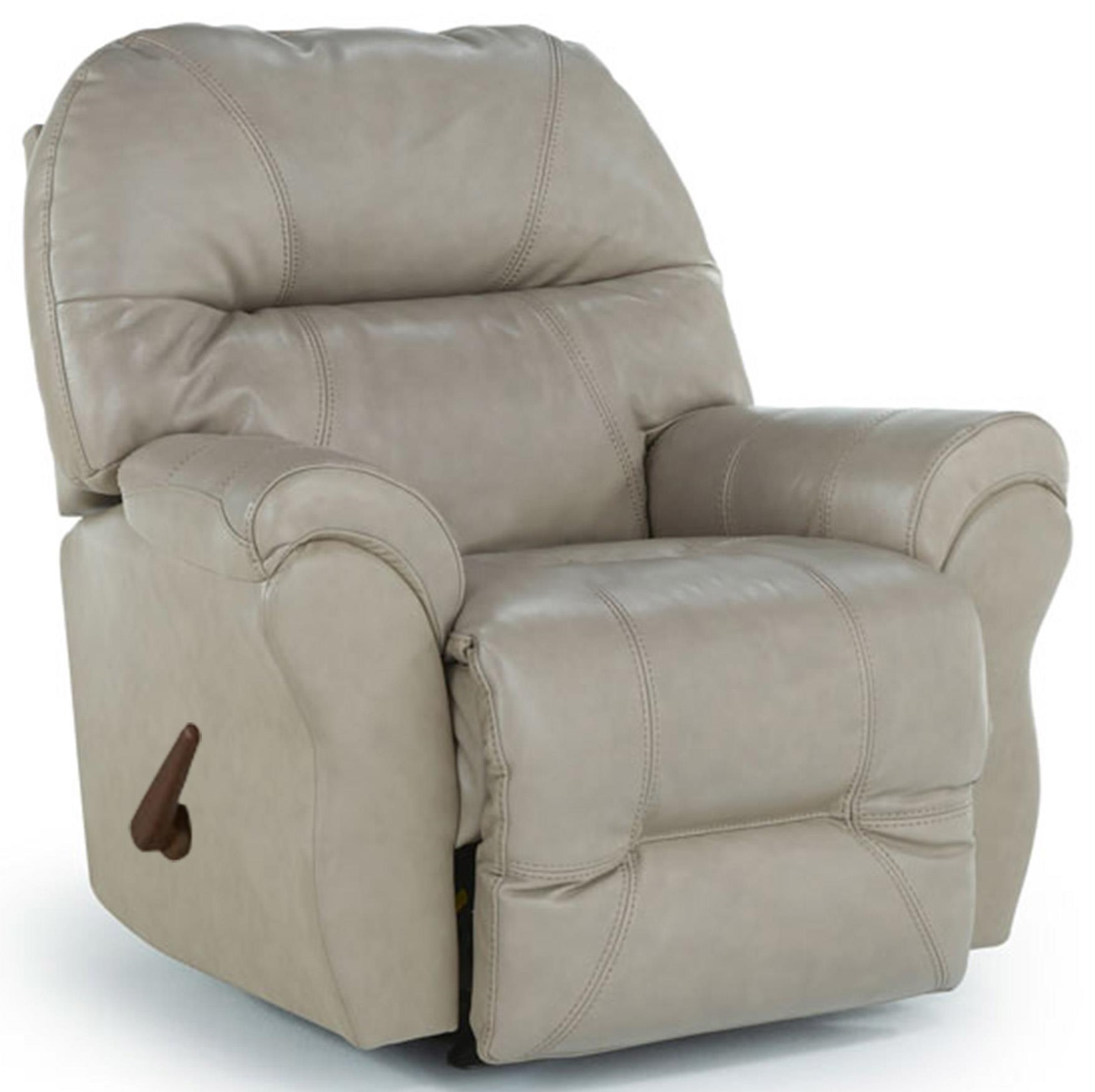 Elephant Leather Rocker Recliner