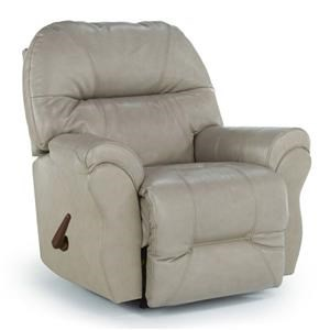 Best Home Furnishings Bodie Elephant Leather Rocker Recliner