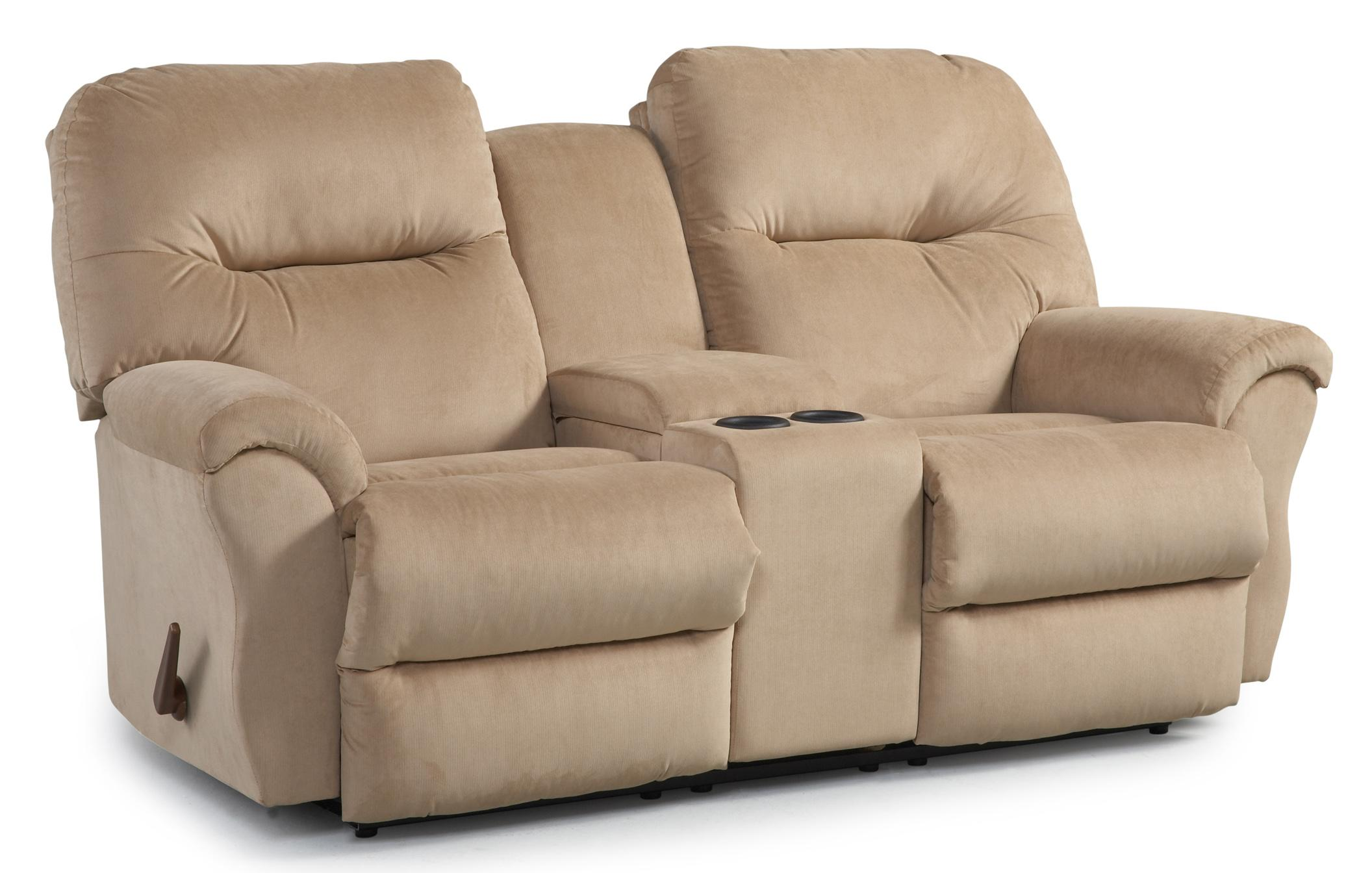 Bodie rocking reclining loveseat with storage console by Best loveseats