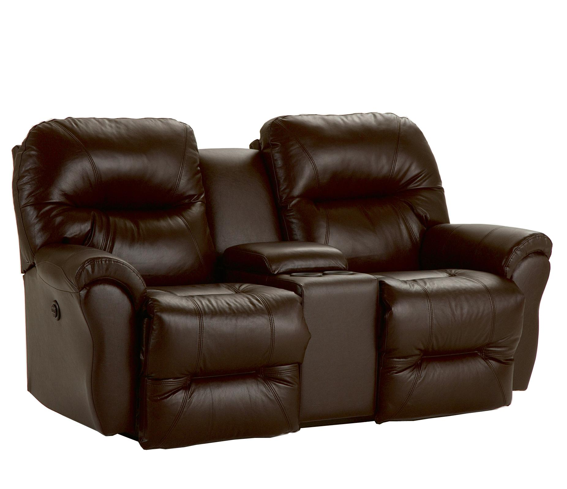 Bodie power space saver reclining loveseat with storage console by best home furnishings wolf Storage loveseat