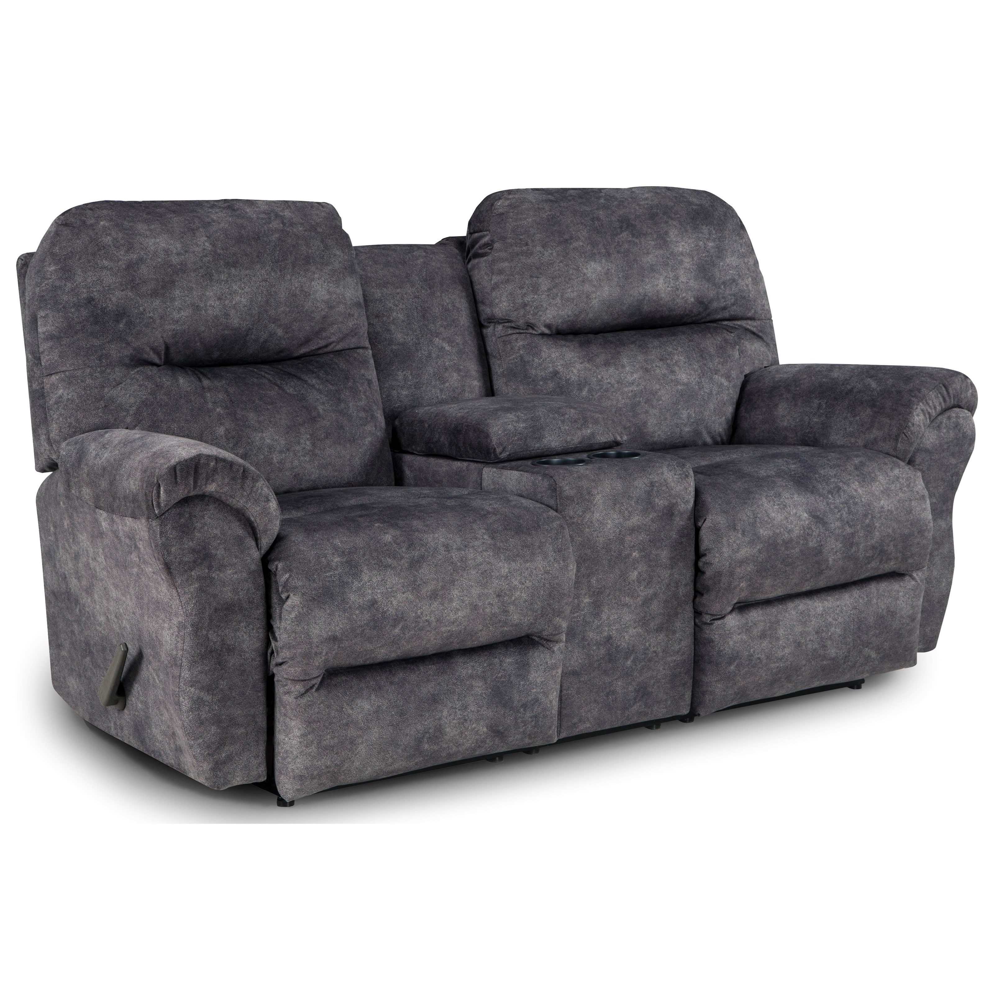 Bodie Rocking Reclining Loveseat w/ Console by Best Home Furnishings at Baer's Furniture